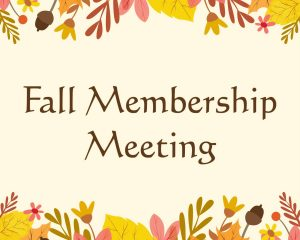 Fall Membership Meeting 2021 @ New York | United States