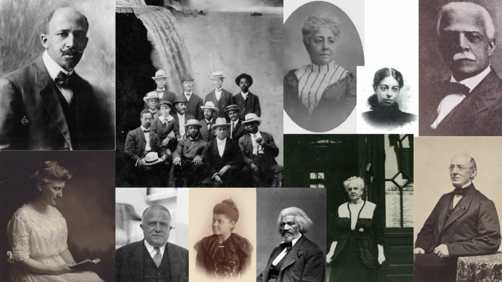 Montage of public domain photos of 19th and early 20th century anti-racist activists
