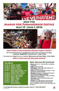 Lunch Packing for Farmworker Justice March @ Riverdale-Yonkers Society for Ethical Culture | New York | United States