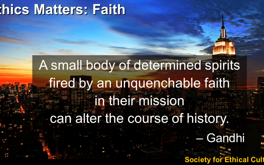 Ethics Matters: Faith