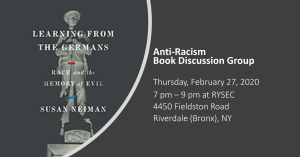 Anti-Racism Book Discussion: Learning from the Germans @ Meeting House