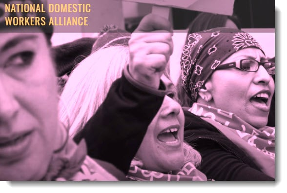 Image of women with words National Domestic Workers Alliance