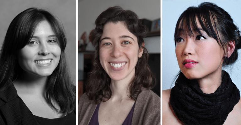 Three female-presenting people, headshots